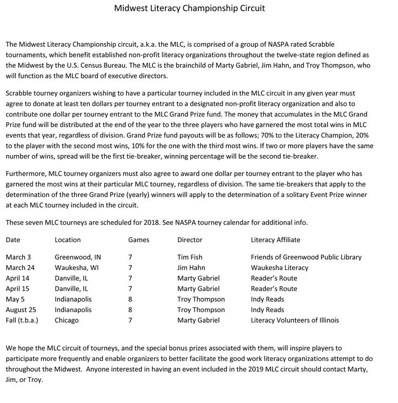 Midwest Literacy Championship Circuit 2018